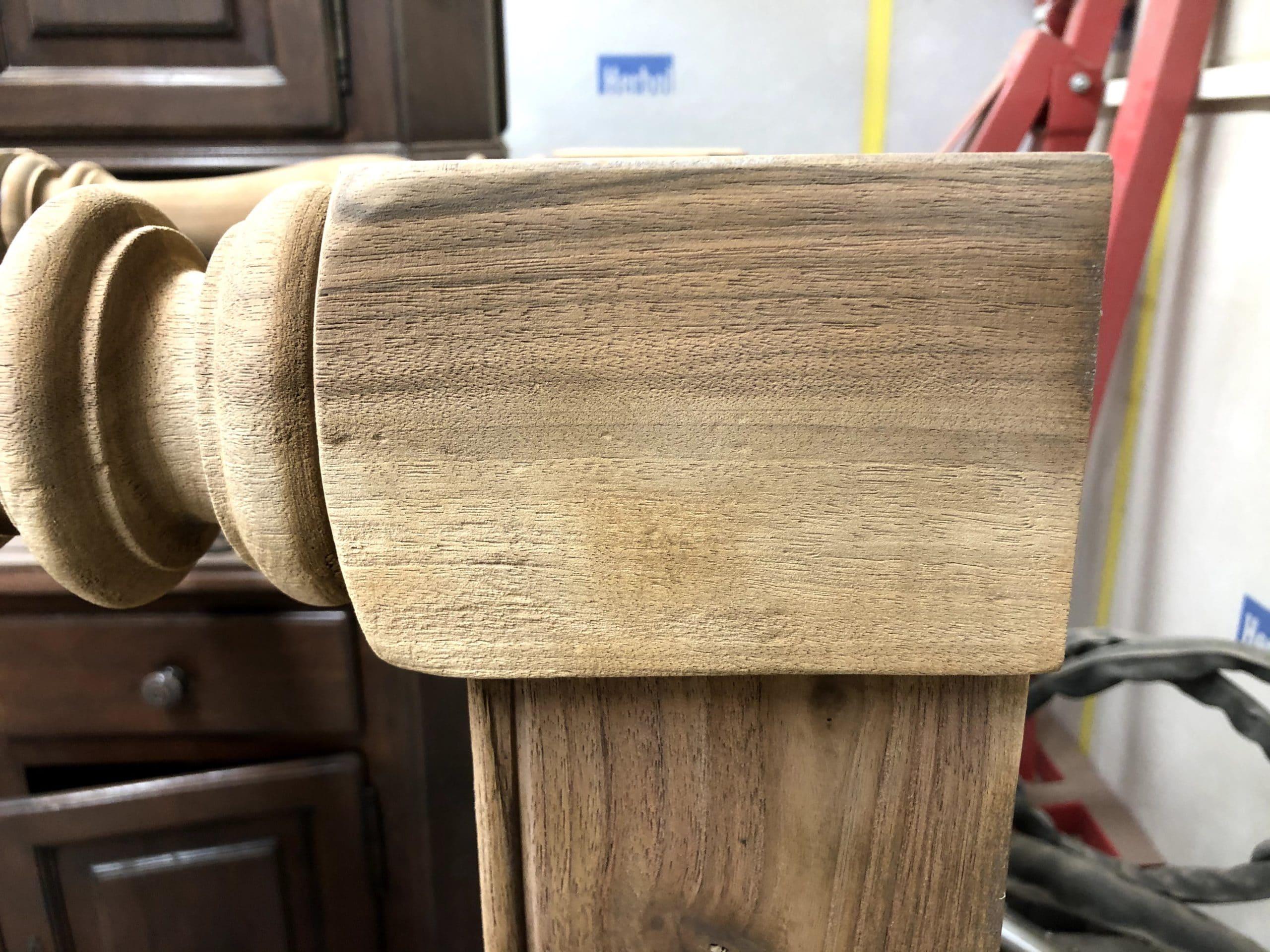 Veinage du bois après nos travaux