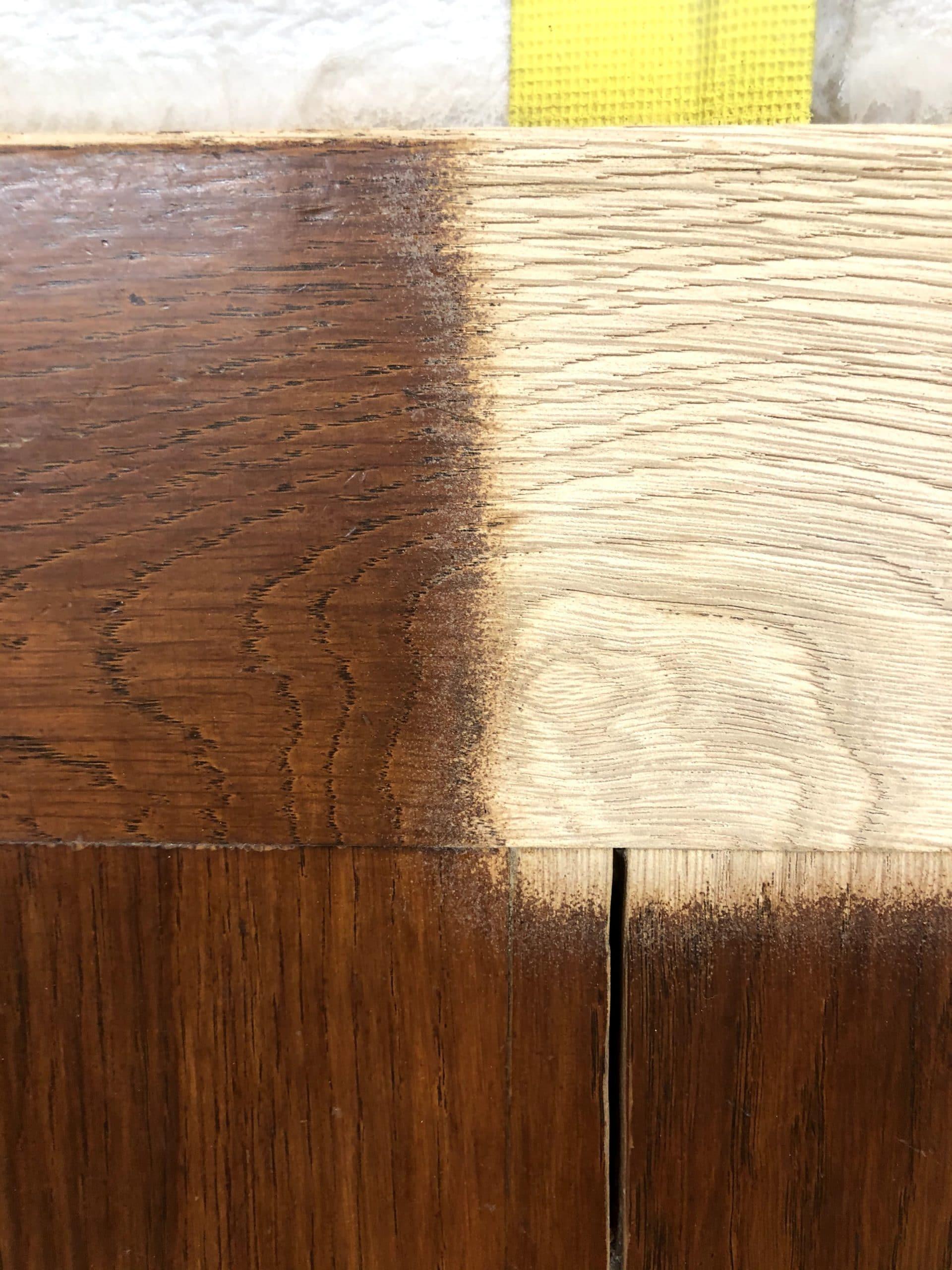 Le bois retrouve son état d'origine