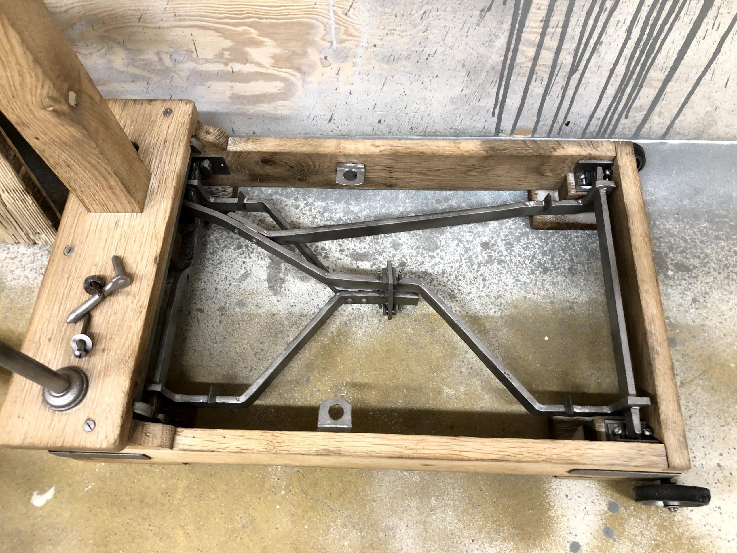 le bois et métal après nos travaux de microgommage