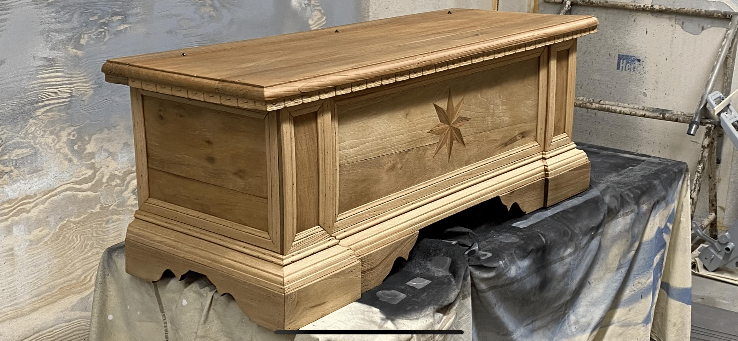 Les détails du décor du bois est retrouvé et protégé