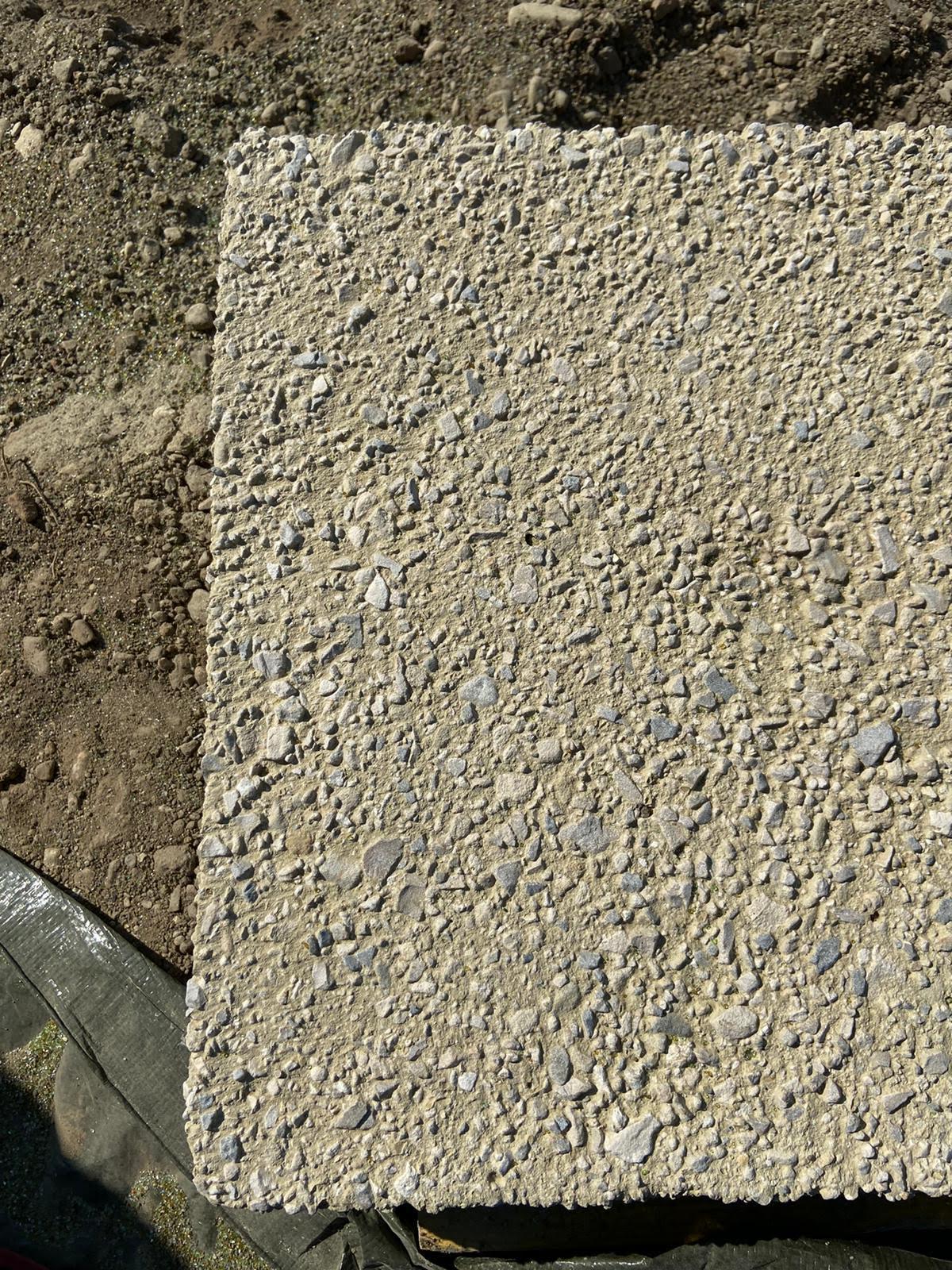 Plaque de béton après notre travail