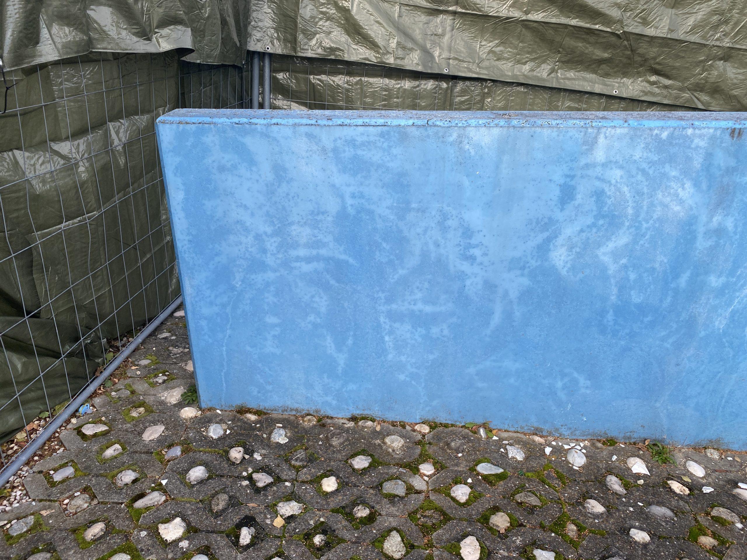 Mur avant travaux