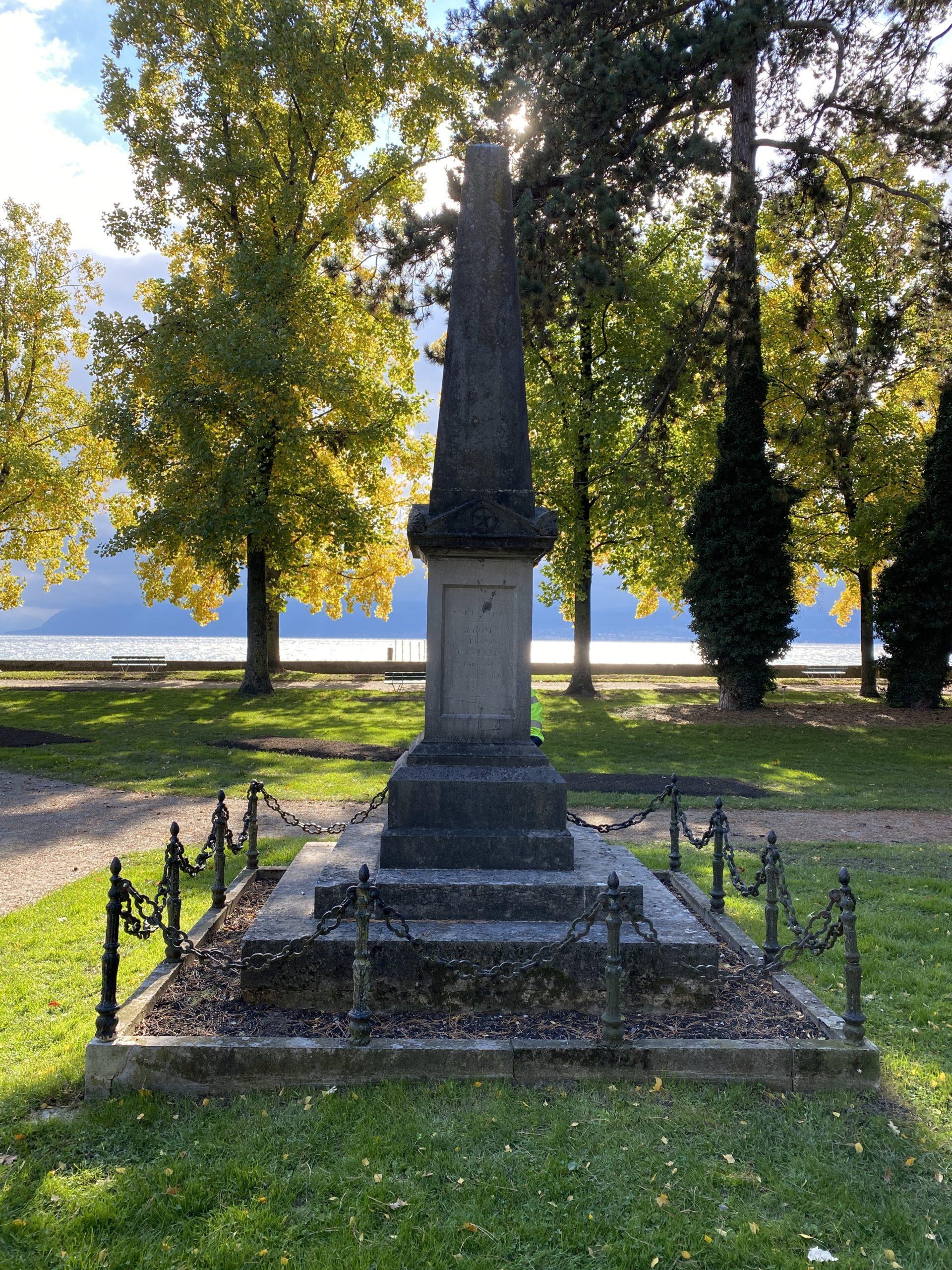 Monument parc de l'indépendance à Morges